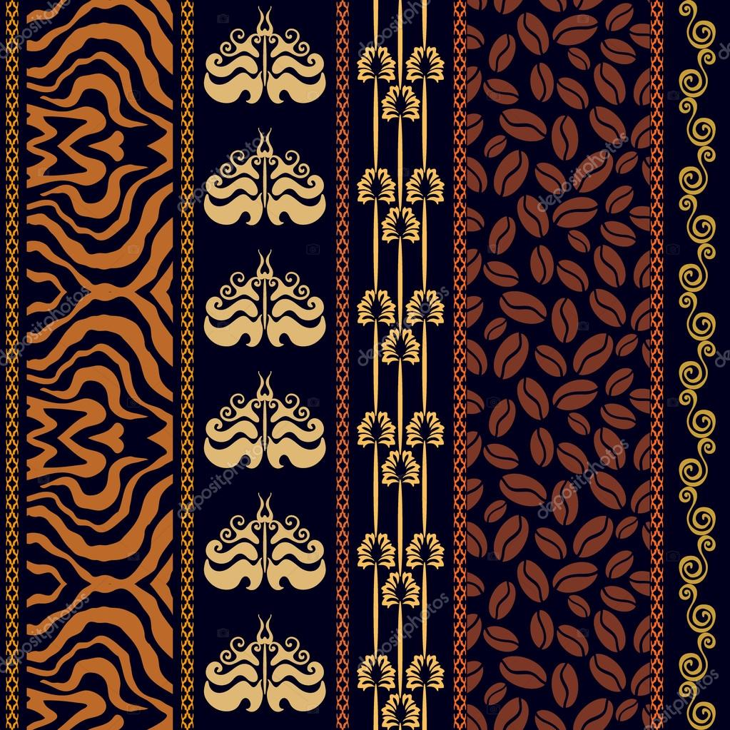 art deco vintage silk wallpaper with fantasy ancient. Black Bedroom Furniture Sets. Home Design Ideas
