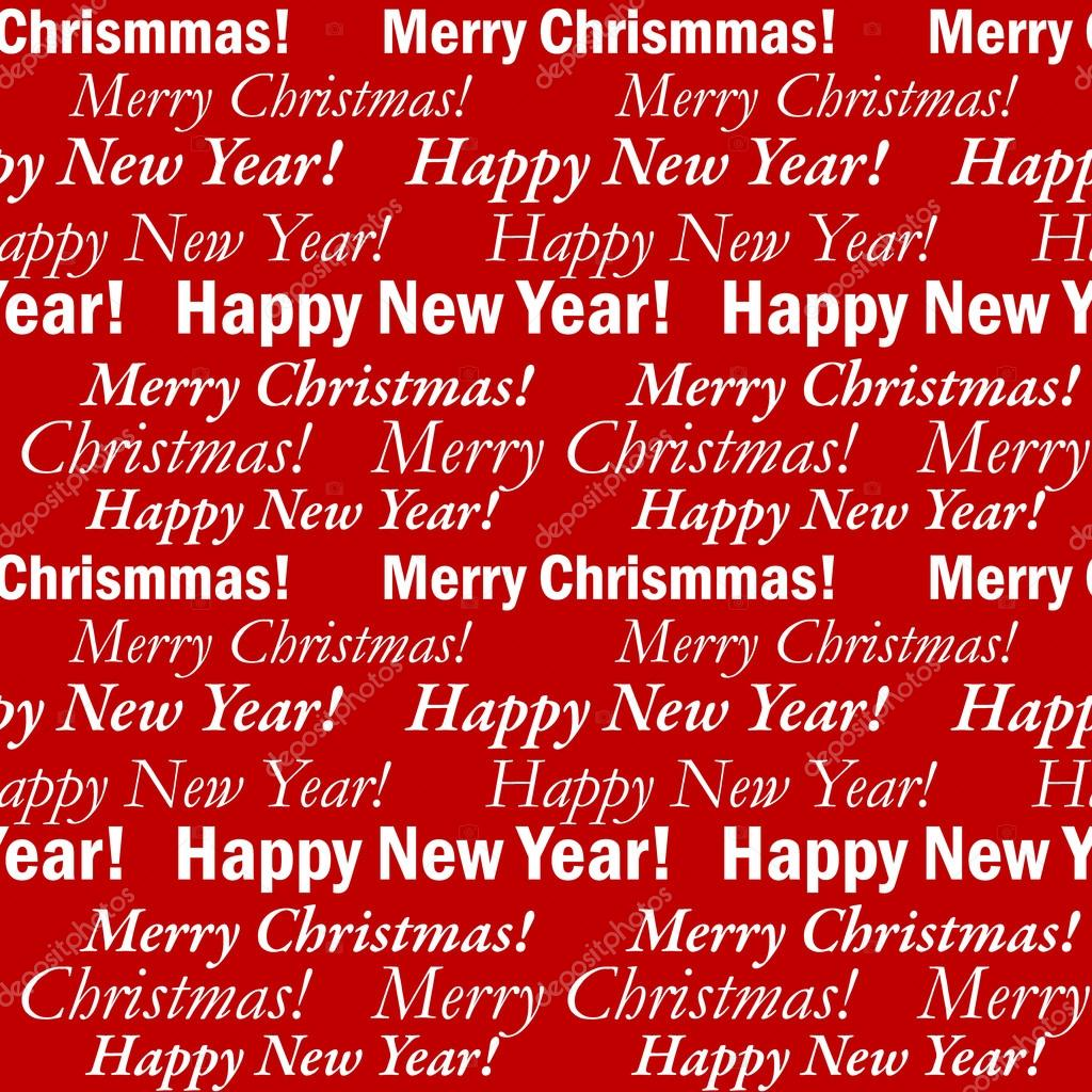 Sem Costura Fundo Festivo Com Frases Feliz Natal E Feliz Ano Novo