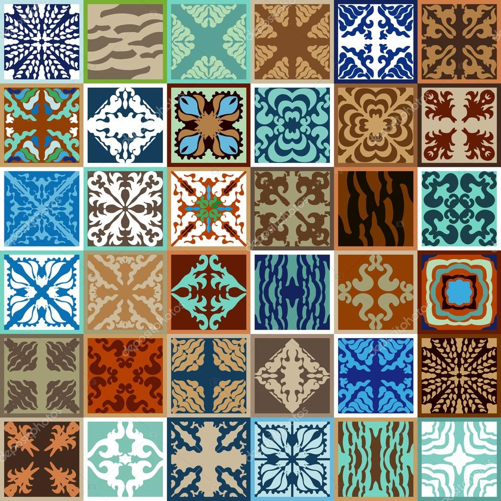 Mega set of glazed ceramic tiles abstract vector background with mega set of glazed ceramic tiles abstract vector background with bohemian elements geometric ornaments dailygadgetfo Gallery
