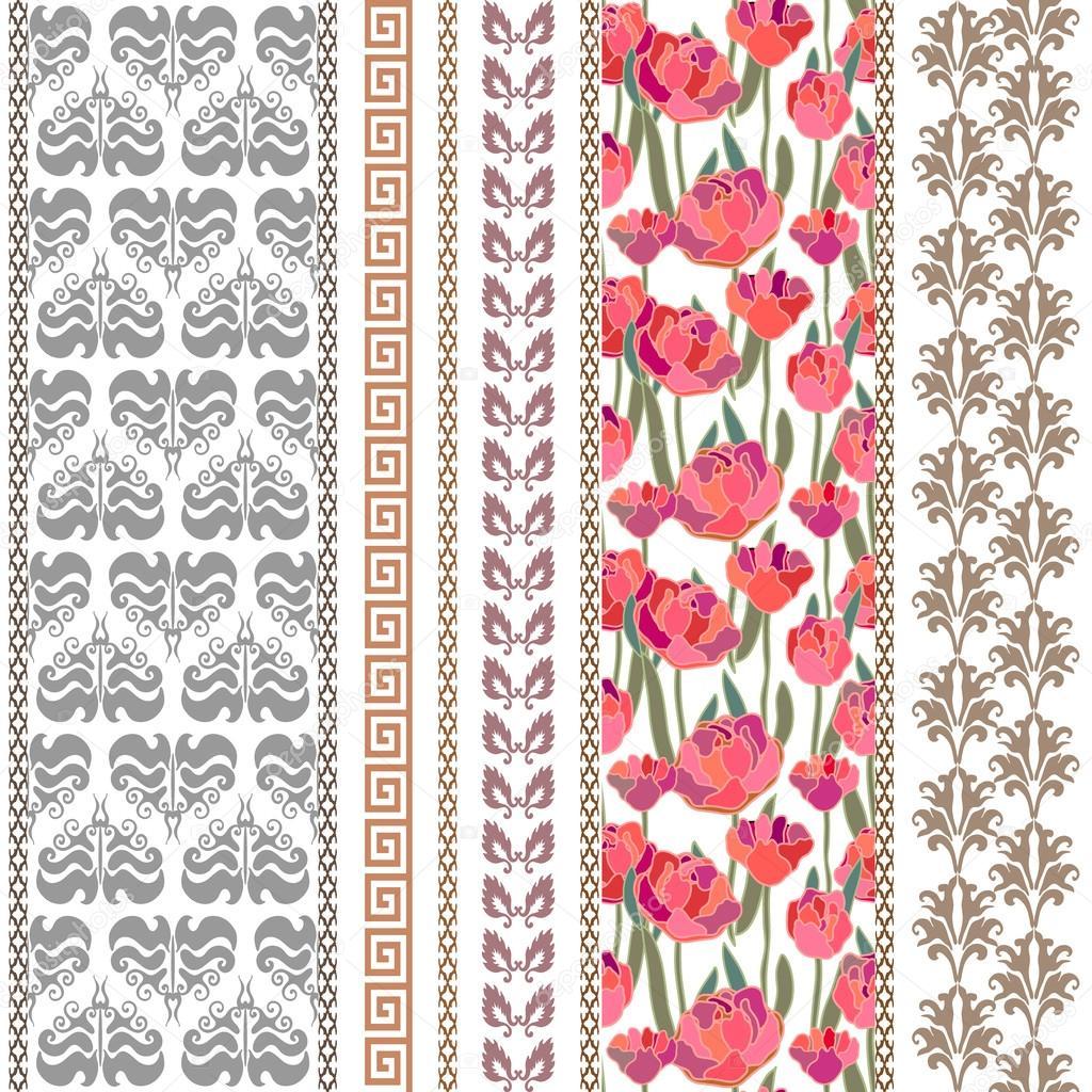 Art Deco Flower Wallpaper Art Deco Vintage Silk Wallpaper With