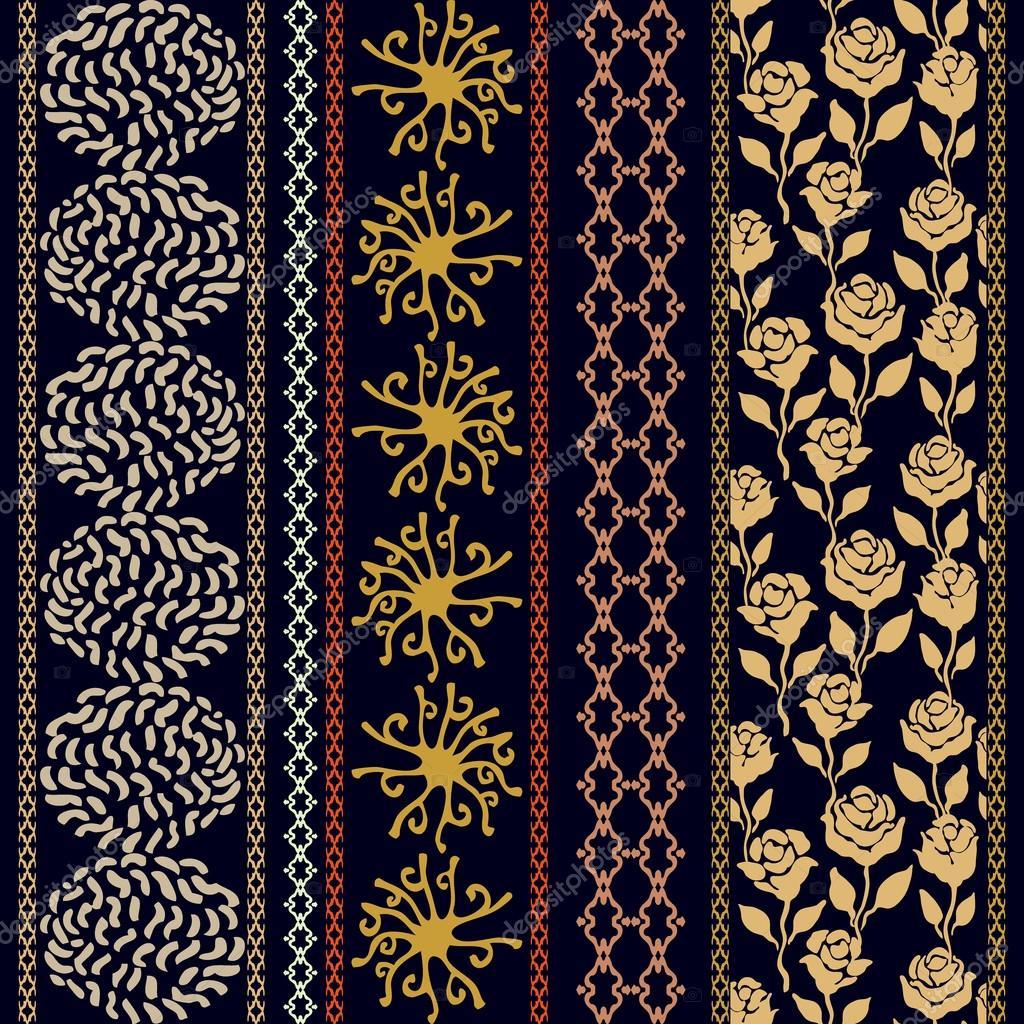 damask pattern border