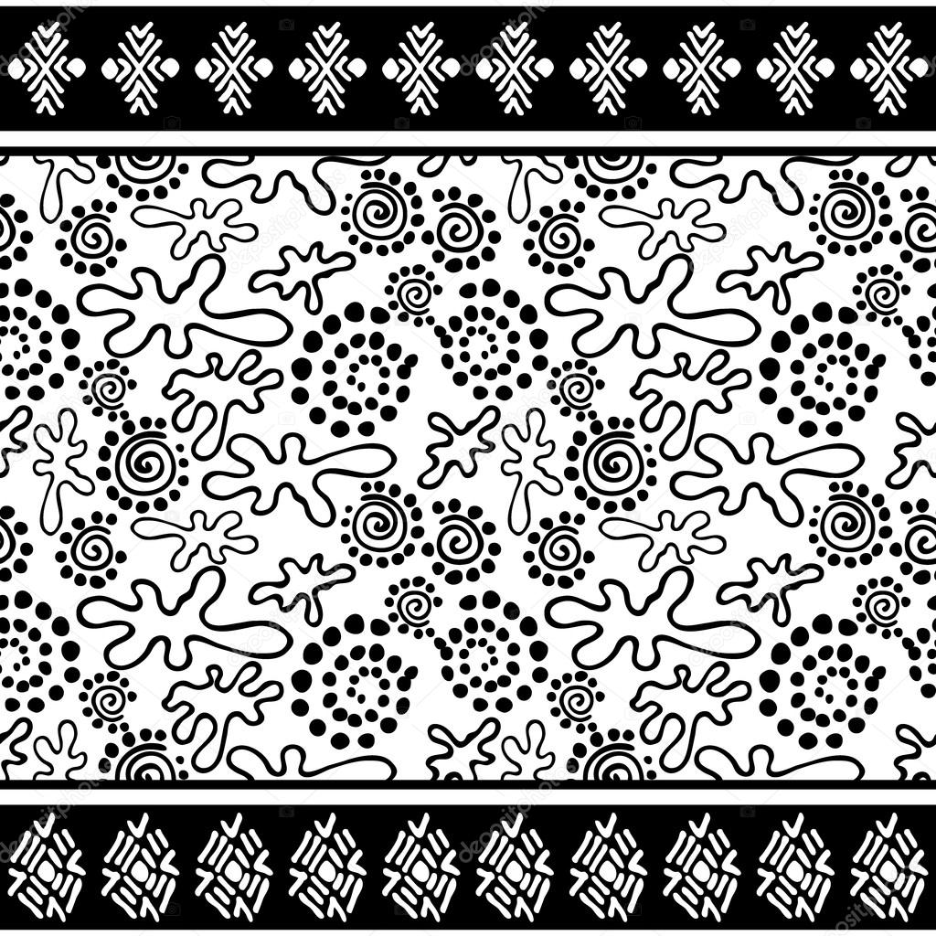 Patrón sin fisuras del estilo boho. Motivos de arte aborigen ...