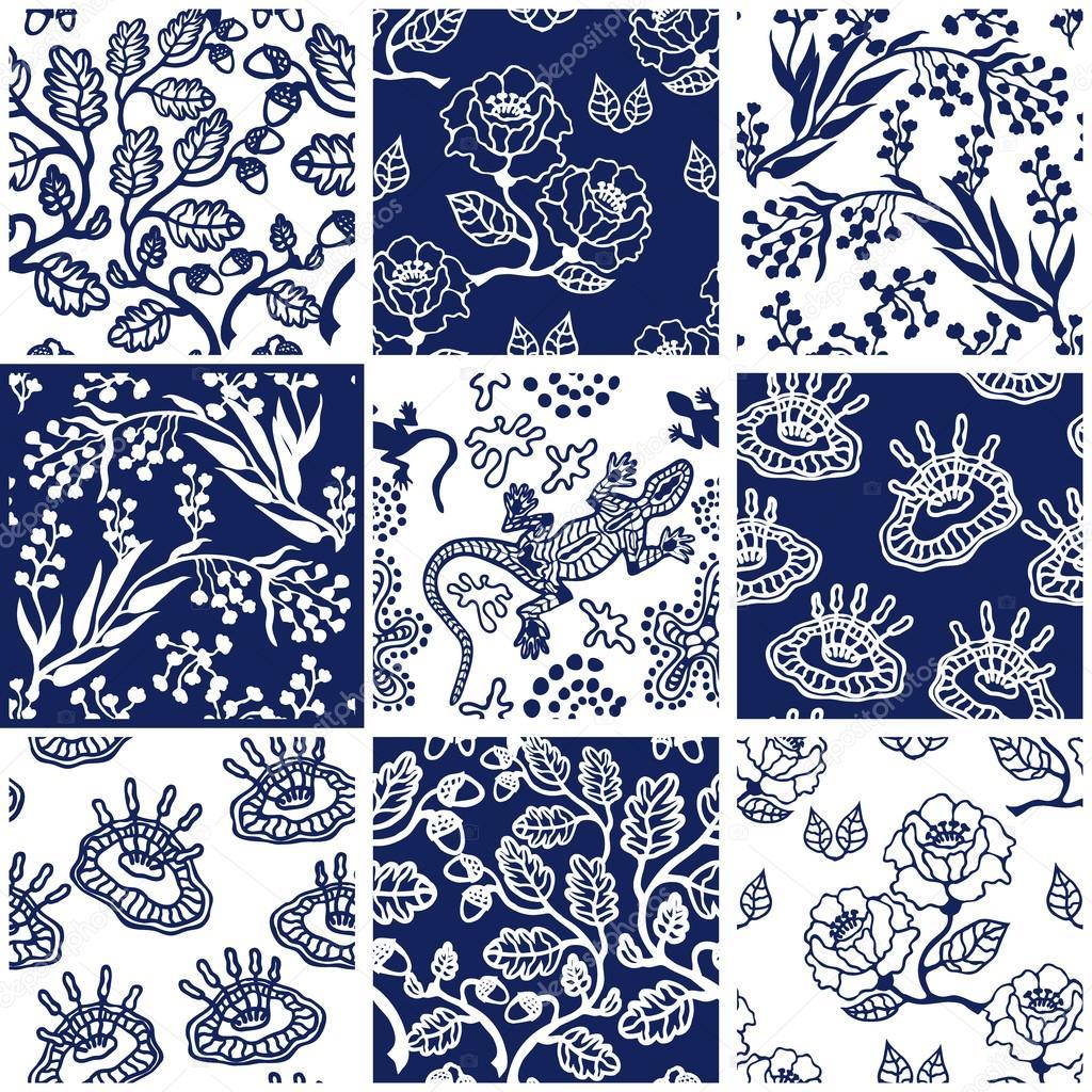 Porzellan set mit orientalischen motiven keramische