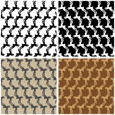 Set of patterns with rabbits