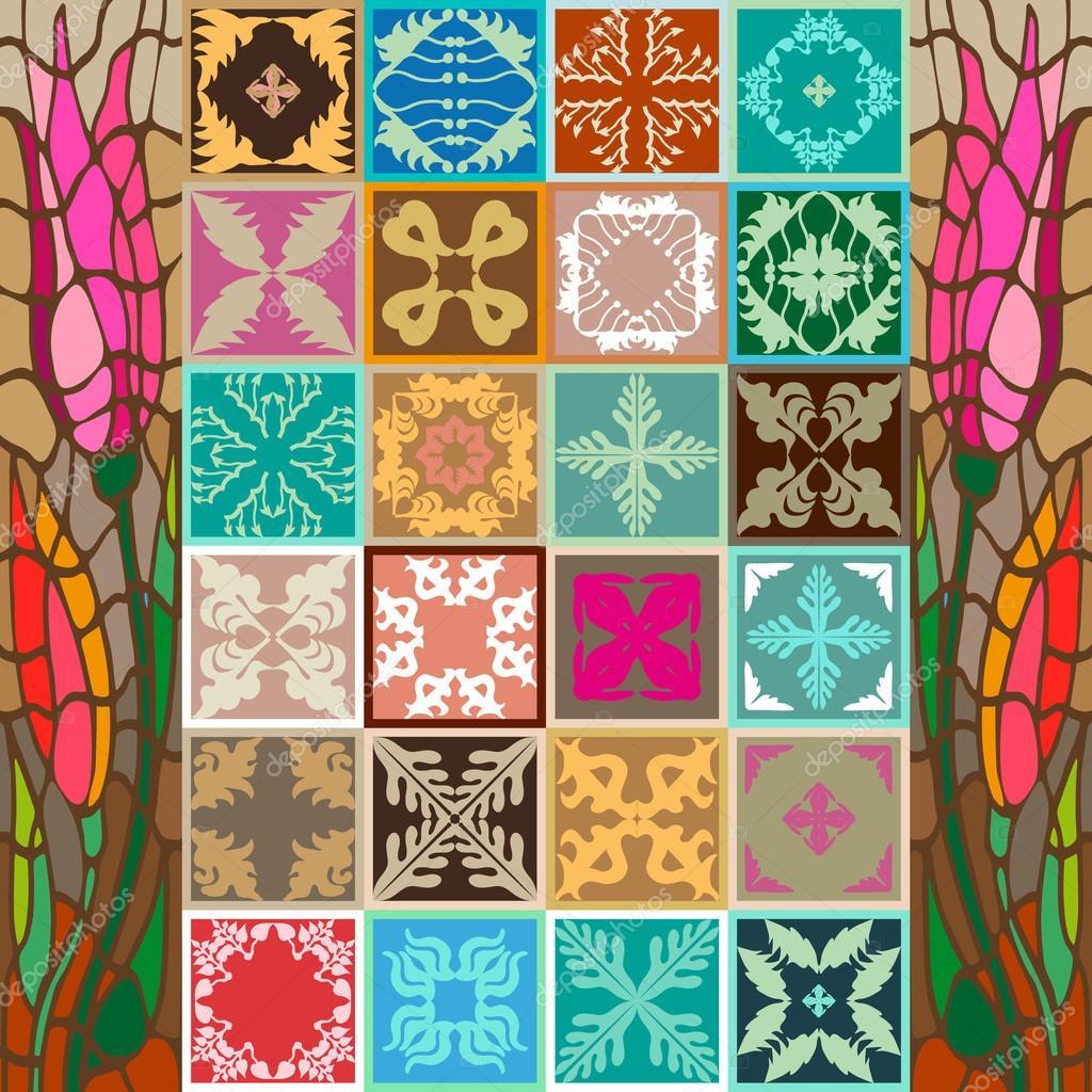 Set of art nouveau ceramic tiles stock vector svetlanakononova set of art nouveau ceramic tiles stock vector 117659264 dailygadgetfo Gallery