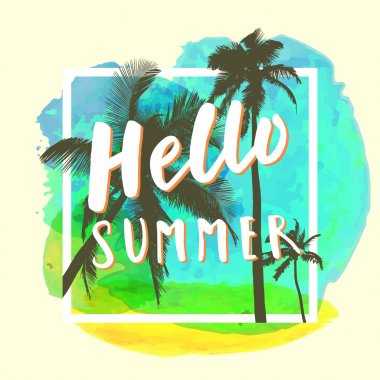 Hello Summer. Modern calligraphic
