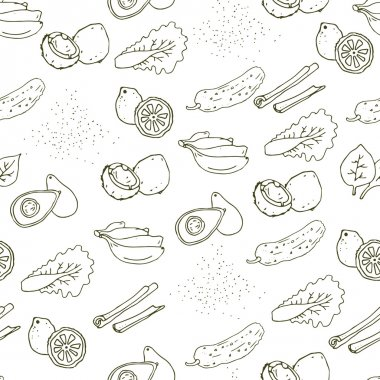 pattern with healthy foods