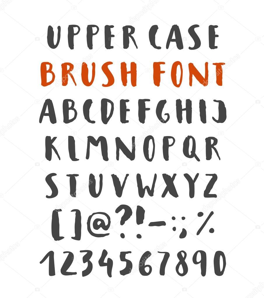 Brush Script Alphabet Stock Vector C Babayuka 112509880