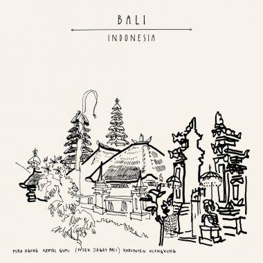 Hindu temple in Bali postcard