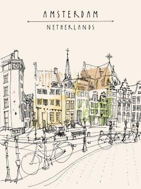 """Картина, постер, плакат, фотообои """"амстердам, голландия, нидерланды """", артикул 80281324"""