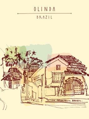 street in Olinda, Pernambuco state