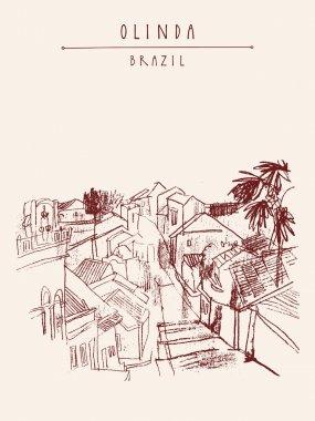 Olinda, Pernambuco, Brazil. postcard