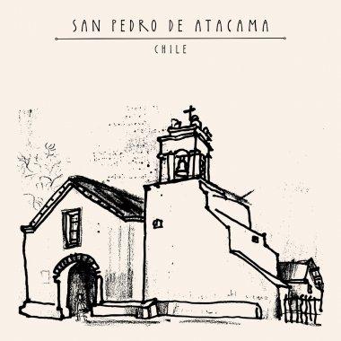 San Pedro de Atacama Chile postcard