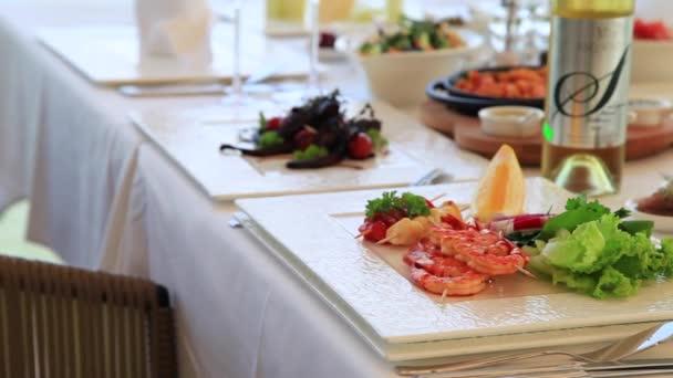 Krevety v rybí restauraci