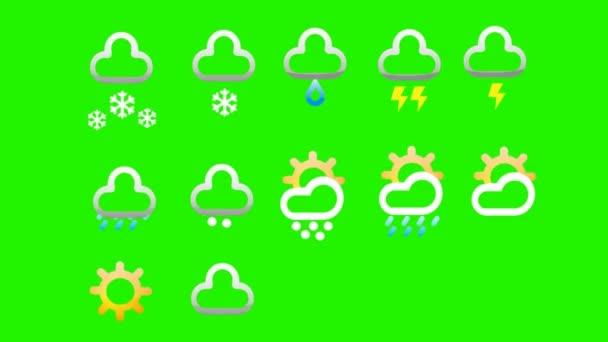 Weather Logos - Green Screen