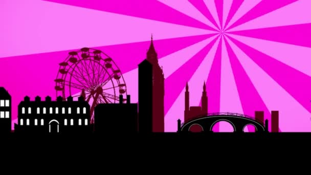 Velká Británie - růžové Sunburst.
