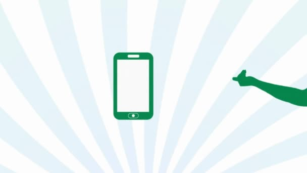Pohyb ruky zelené Smartphone - Sunburst - 001