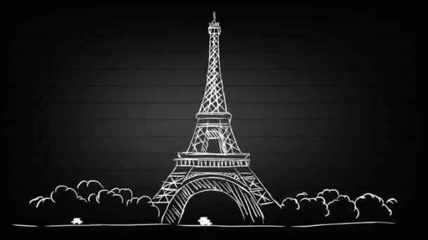 Eiffelova věž - Spotlight pozadí