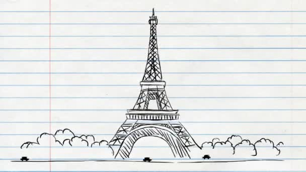 Eiffel Tower - Paper Background 02