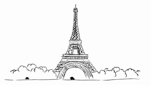 Eiffelova věž - bílé pozadí