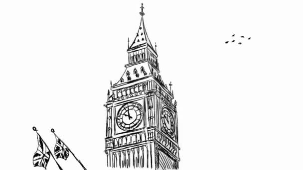 Big Ben - London - Chalkboard 03