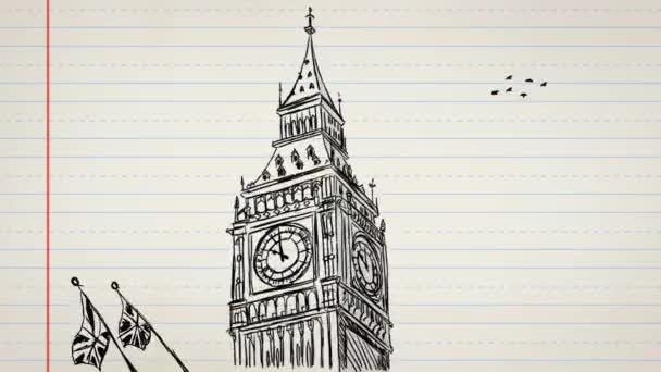 Big Ben - London - Hand-drawn 02