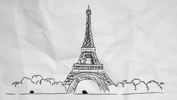 Eiffelova věž - papírové pozadí
