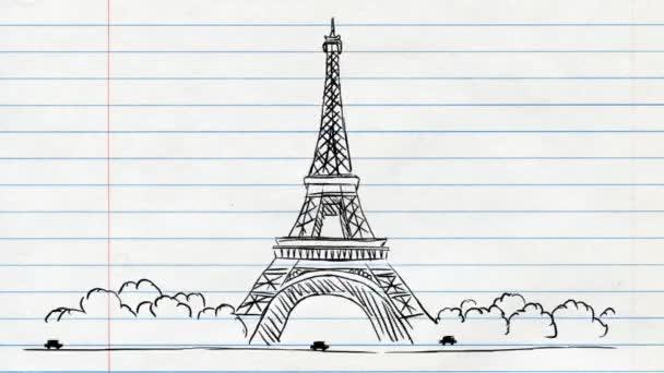 Eiffelova věž - papírové pozadí 02