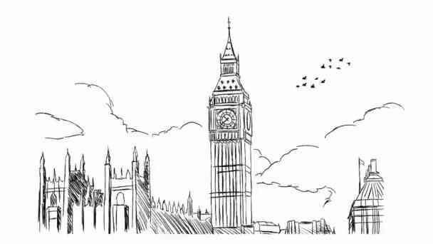 Londýn - ručně tažené 01