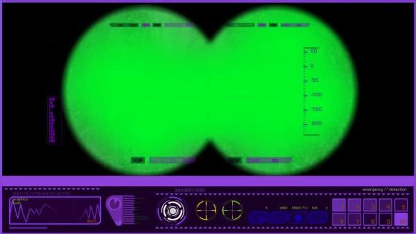 Dalekohled - úhel pohledu - fialová