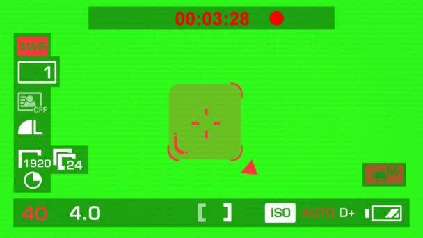 Kamera felvétel - zöld képernyő - tér - piros