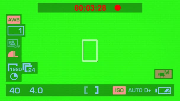 Camera Recording - Green Screen - Interface - Red