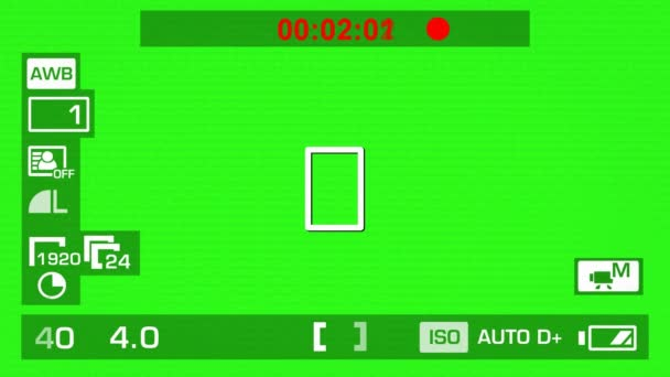 Kamera felvétel - zöld képernyő - interfész - fehér