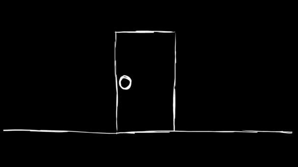 Fabion otevírání - ručně kreslenou - dveře 01