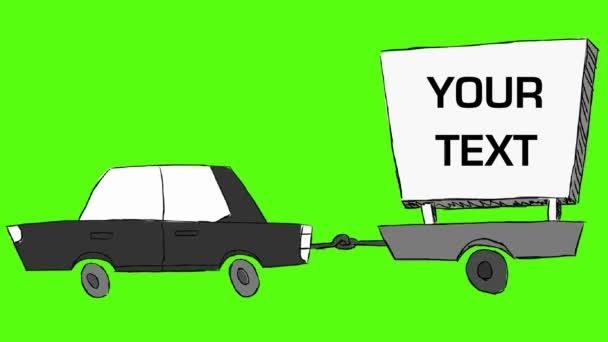 Autó - kézzel húzott - billboard