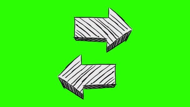 Big Arrow - Hand Drawn - green screen