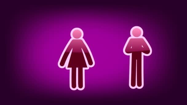 Couple Symbol - Icon - Purple