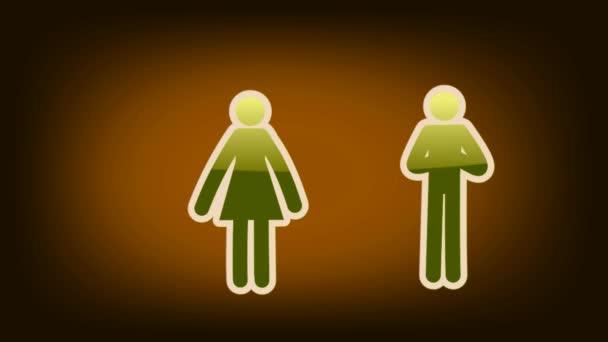 Couple Symbol - Icon - Orange