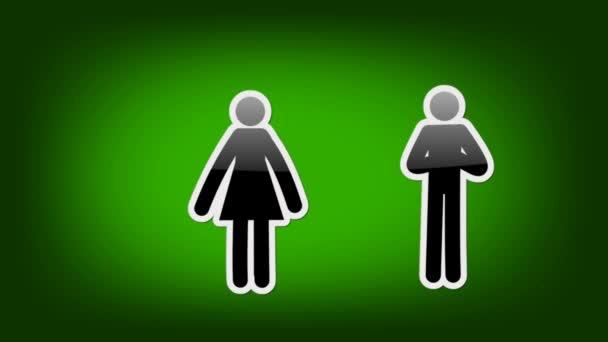 Dvojice symbolů - ikony - zelená