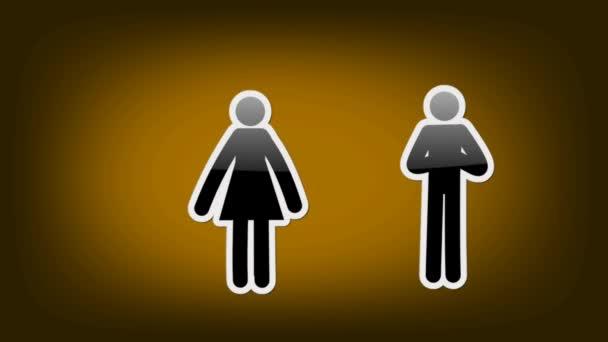 Dvojice symbolů - ikony - oranžová
