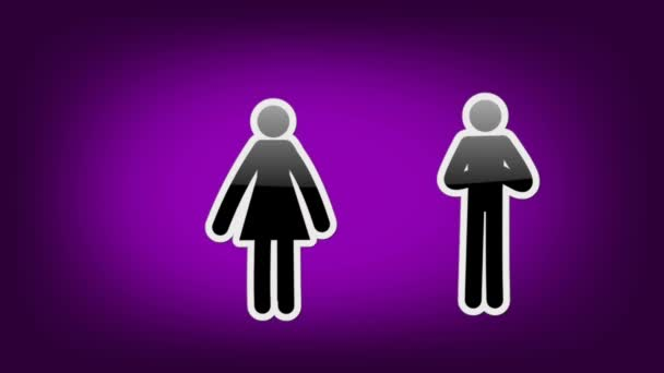 Dvojice symbolů - ikony - fialová
