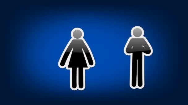 Dvojice symbolů - ikony - modrá
