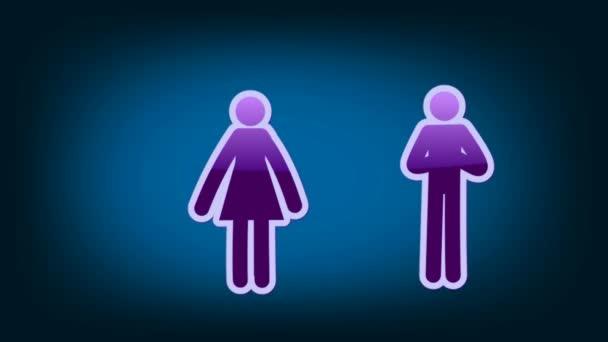 Couple Symbol - Icon - Blue