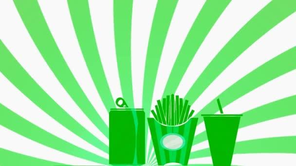 Fast Food Menu - zelené