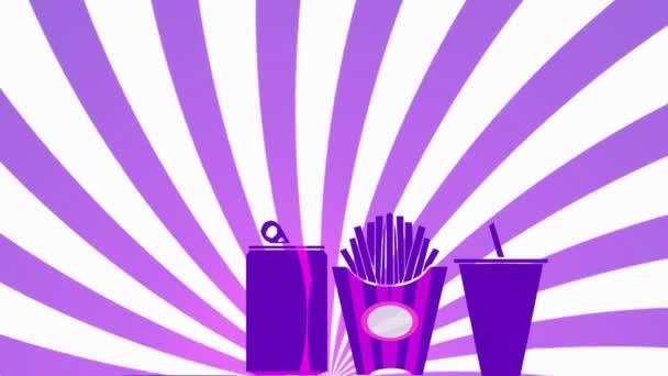 Fast Food Menu - fialová