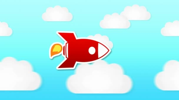 Rocket Animation - Day Time - Clouds