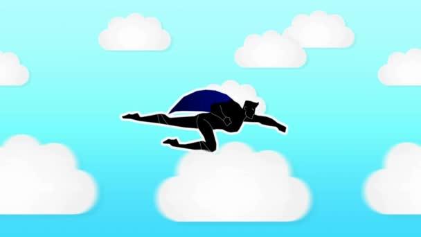 Szuperhős animáció - nappali - felhők