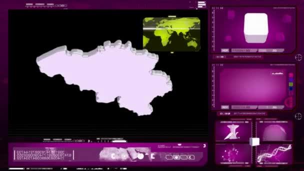 Belgium - computer monitor - pink