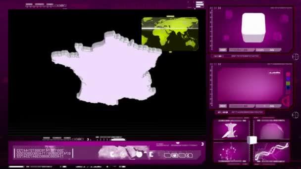 Francie - počítačový monitor - růžová
