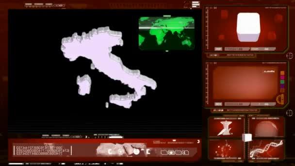 Rosso Italia - monitor computer-